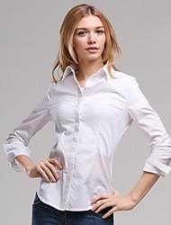 Collar Turn-Down de Veri Gude femmes Style Plaid Colombie-shirt