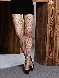 Feminino Preto Big Fishnet Pantyhose