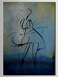 Pintura al óleo abstracto pintado a mano del bosquejo del lápiz Las personas con el marco de estirado