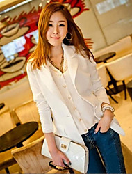 Women's Black/White Blazer , Casual/Work Long Sleeve