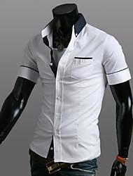 Men's Casual Contrast Colors Short Sleeve Shirt