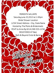"Personalized ""Exciting Moment"" Bridal Shower Cards - Set of 12"
