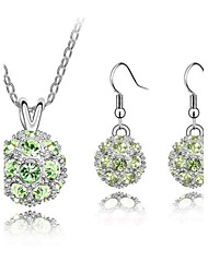Jewelry Set Women's Party Jewelry Sets Alloy / Rhinestone Rhinestone Earrings / Necklaces Silver