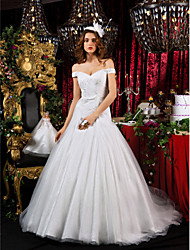 Lanting A-line Princess Court Train Tulle Wedding Dress
