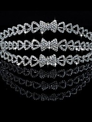 Liga lindo Com Checa Rhinestones Testa Wedding Jewelry