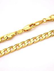 u7® 18k grossas ouro cheias cadeias colar Figaro alta qualidade da cadeia de colares franco para os homens 5 milímetros 55 centímetros