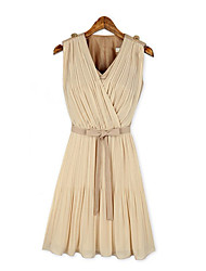 Women's Dresses , Chiffon Casual/Work Kaihot