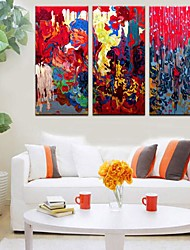 Stretched Canvas Art The Colorful Abstract Set of 3