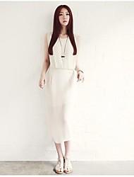 Женская Летняя Супер Газ Простой двухместный Талия платья конструкции