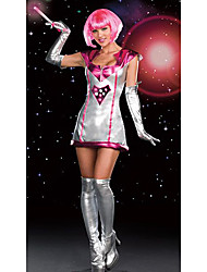 Star Soldiers Silver Polyester Women's Halloween Costume