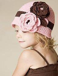 Fleur Beanie Knited chapeau de crochet pour enfants