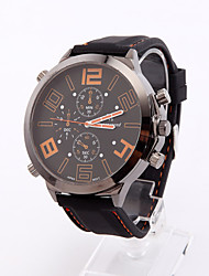Womage mode grand cadran montre de sport (orange lettres)