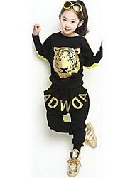 Casual Tiger Head Suits meisje