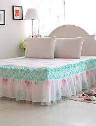 MengKou Fashion Fresh Summer Style Bedskirt(Screen Color)