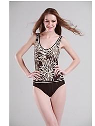 De las mujeres de la correa de nylon Spandex acolchado traje de baño atractivo de una sola pieza