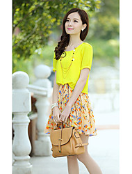 De dos piezas como el vestido de la mujer Qiaoman 2036 3195-1