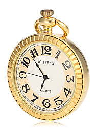 Unisex Alloy Gold Quartz Pocket Watch