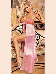 Elegante Prinzessin Pink Satin Damen Dessous Sexy Uniform