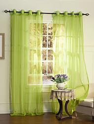 país de un panel de cortinas transparentes de poliéster dormitorio verde fijo tonos