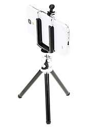 I-11-bk Mini Desktop Aluminum Tripod with Double-deck Three Sections (Black) & Mobile Phone Tripod Mount Holder