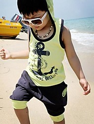 Boy's Set T-Shirt with Cell Harem Pants Shorts Clothing Sets