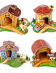 Puzzle 3D Mini Pet Casa Toy for Kids (colore casuale)