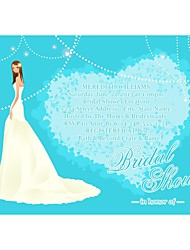 "Personalized ""Glancing Back Prettily"" Bridal Shower Cards - Set of 12"