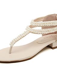 Reko Women's Beige Flat Heel Sandals