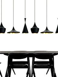 Max 60W Mini Style Painting Metal Pendant Lights Bedroom / Dining Room