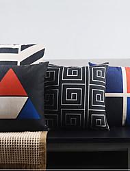 Set of 4 Postmodern Minimalism Fancy City's Breathe Decorative Pillow Covers