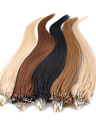 18Inch 1Pcs Loops Micro Rings Beads Tipped Straight Hair Extensions More Light Colors 100s/pake 0.5g/s
