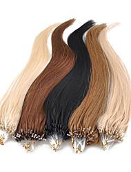 18inch 1pcs Mikroringe Perlen Schleifen gekippt gerade Haarverlängerungen mehr helle Farben 100s / pake 0,5 g / s