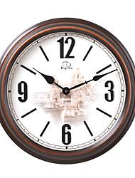 "18 ""H Cor Mogno Estilo Retro relógio de parede do vintage"