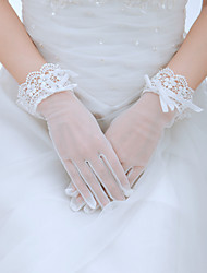 Wrist Length Fingertips Glove Tulle Bridal Gloves/Party/ Evening Gloves