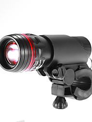 White Light 1-LED 3-Mode della torcia elettrica con il supporto della bicicletta morsetto supporto della clip (3xAAA, 150LM)