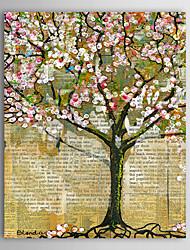 Pintura a óleo pintado à mão Paisagem Flores de Mudas, com quadro esticado