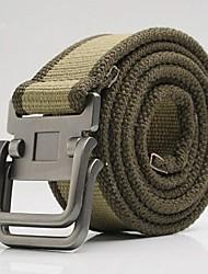 doble hebilla de cinturón de lona de los hombres