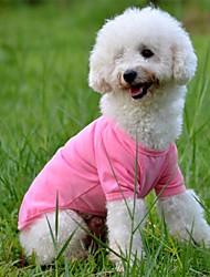 Hunde T-shirt Rot Orange Gelb Grün Blau Rosa Hundekleidung Sommer Frühling/Herbst einfarbig Lässig/Alltäglich