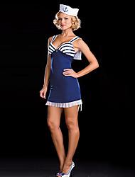 Stripes Sailor Hot Menina Black & White padrão uniforme Naval
