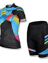 SPAKCT® Cycling Jersey with Shorts Women's Short Sleeve Bike Breathable / Quick Dry / Front Zipper / Wearable / YKK ZipperJersey / Jersey
