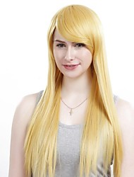 Capless Extra Long Straight Light Blonde Hair Wig