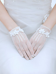 Wrist Length Fingertips Glove Tulle Bridal Gloves / Party/ Evening Gloves Spring / Summer / Fall White