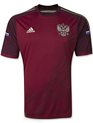 Men's SoccerJersey Short Sleeves Wine Red