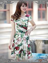 Encre de Chine Conception ChiffonDress Costumes OL style des femmes d'été maman heureuse Fat et Slim