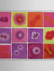 Hand Painted Oil Painting Abstract Multiple Flowers with Stretched Frame