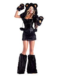 Costumes de Cosplay / Costume de Soirée Animal Fête / Célébration Déguisement Halloween Noir Couleur PleineRobe / Gants / Jambières /