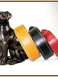 Durable véritable collier de chiot en cuir pour les grandes et moyennes Animaux Chiens (couleurs assorties, Tailles)
