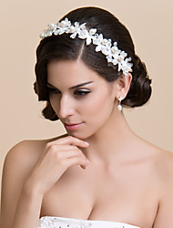 Women's / Flower Girl's Lace Headpiece-Wedding / Special Occasion Flowers