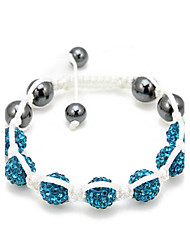 Blue Zircon Rope Bracelet