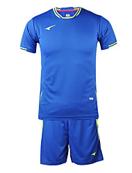 Men's Short Sleeve Soccer Suits(Blue & Italy)